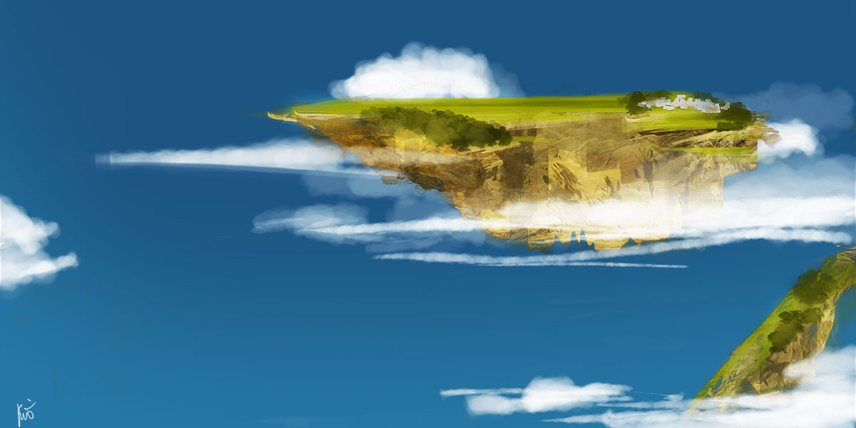 speed painting inspiré de l'animé Skyland