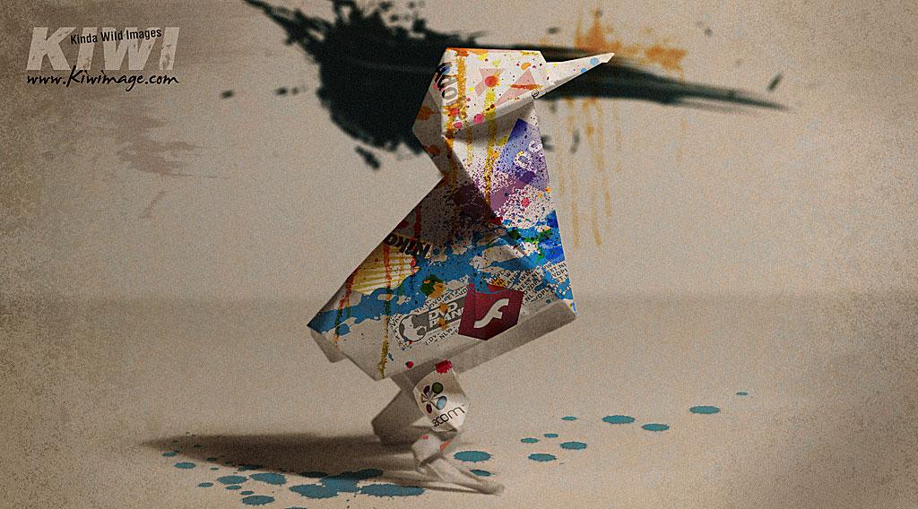 kiwi origami graphisme