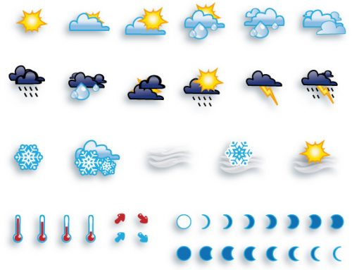 Symboles météo vectoriels