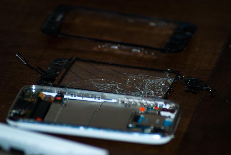 i phone cassé - démonté