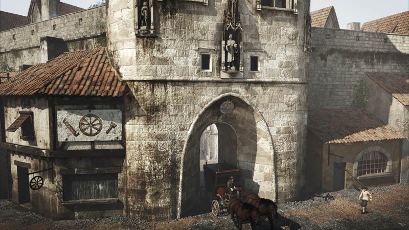 Animation 3d de la porte cailhau bordeaux for Porte cailhau