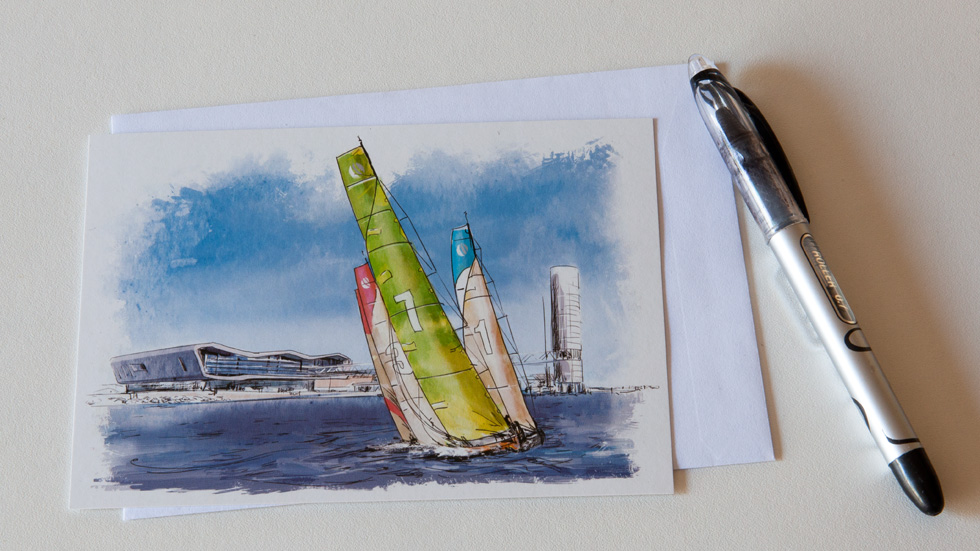 illustration pour la volvo ocean race
