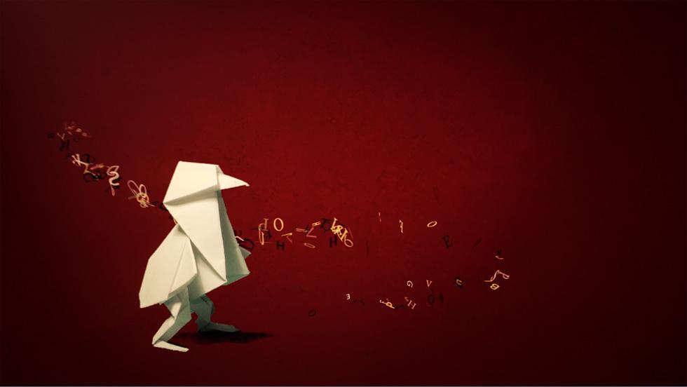 kiwi origami motion design