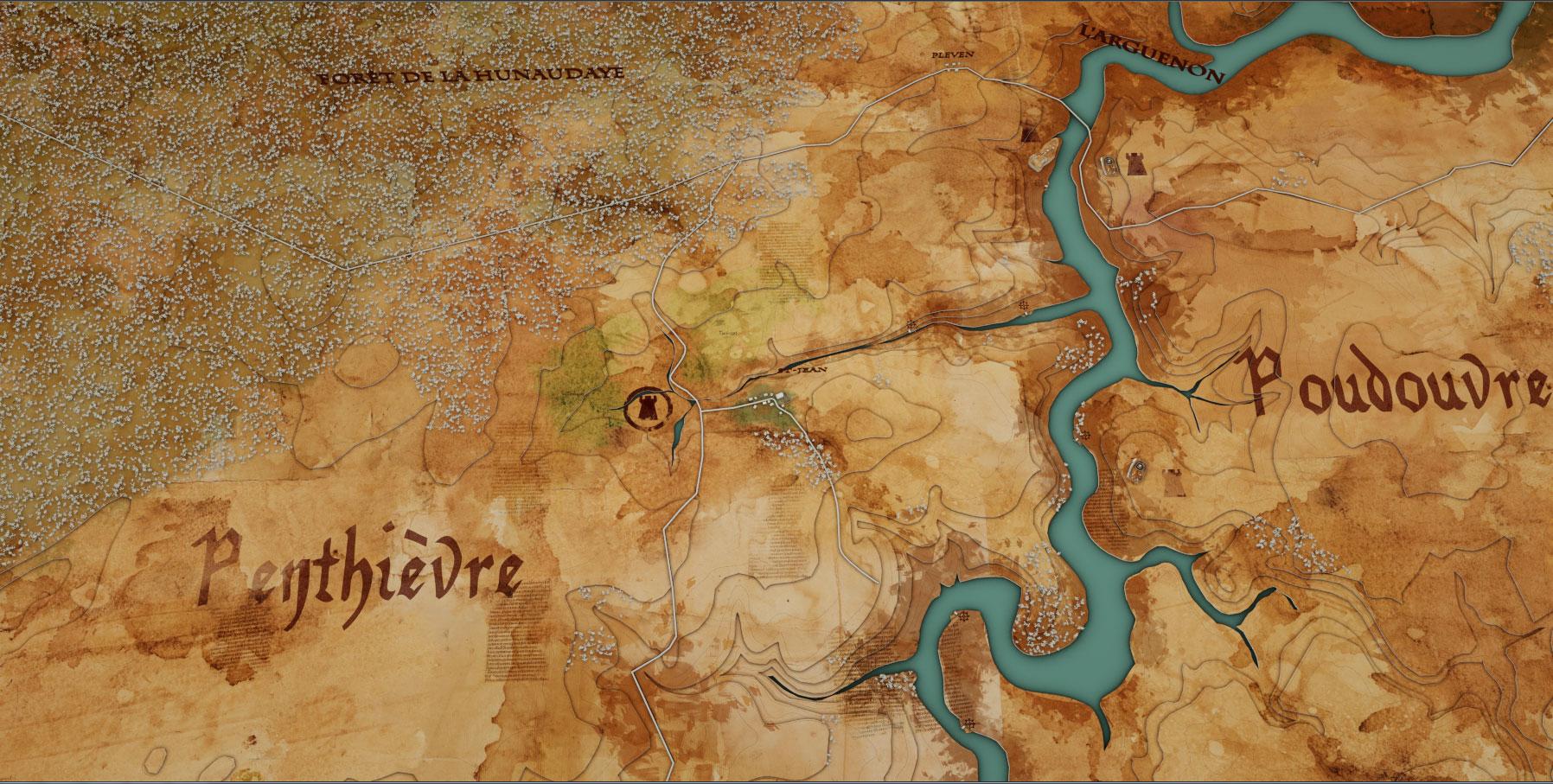 carte environs hunaudaye