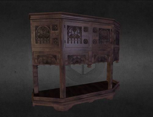 Modéle 3d / un dressoir du 15e siècle