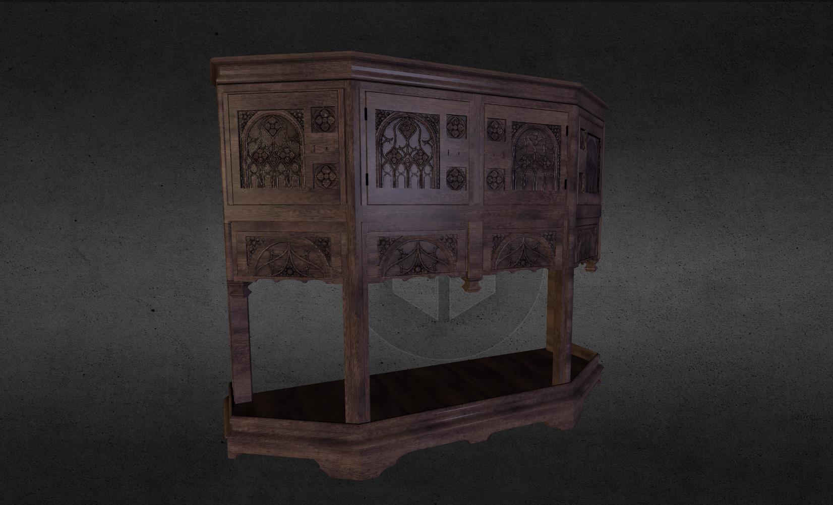 dressoir breton du 15e siècle
