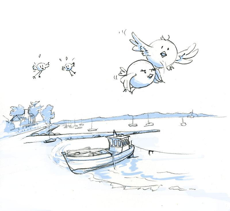 dessin 2 : à l'île au moine