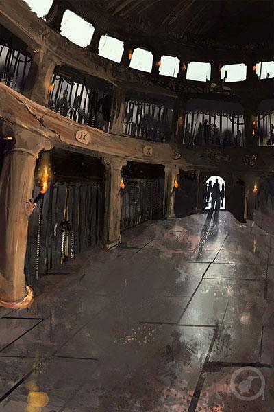 Illustration pour carte de jeu : la prison