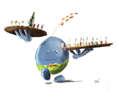 Illustration de mascotte, pour Biocoop Lorient