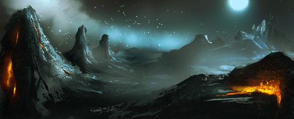 planète volcanique