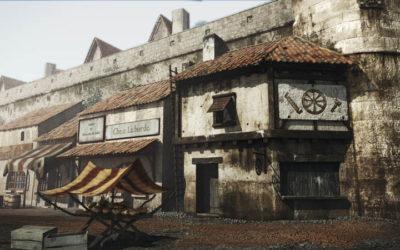 Animation 3d de la porte Cailhau à Bordeaux