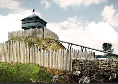 Restitution 3d historique – Une motte castrale du XIe siècle