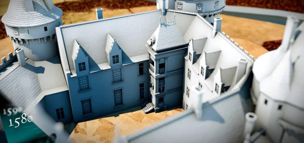 graphiste 3d - restitution 3d du château de la Hunaudaye