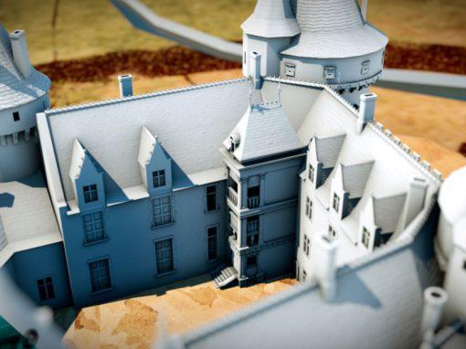 Restitution 3d : Un château-fort, du Moyen-âge à la Renaissance