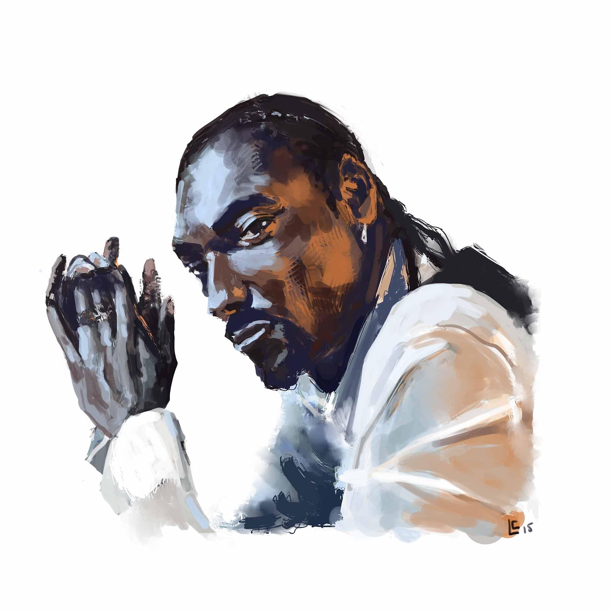 Snoop Dogg peinture numérique d'après photo