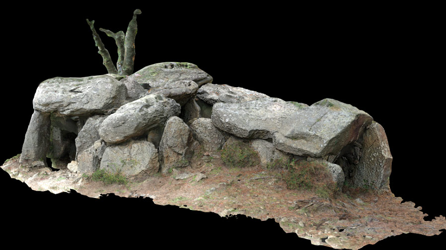 Dolmen du Mané Braz – reconstruction 3d