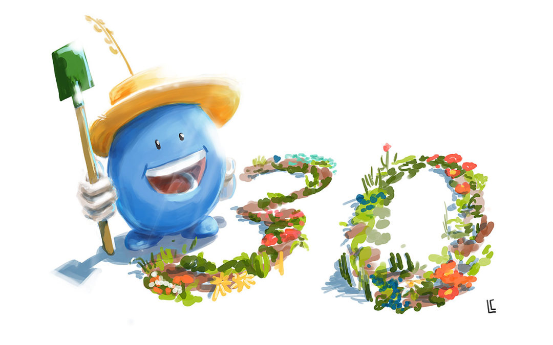 Illustration anniversaire Biocoop