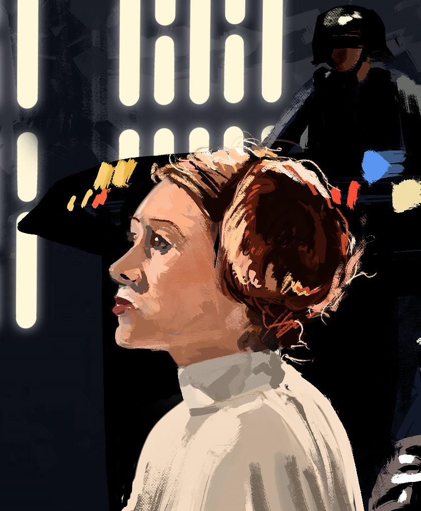 star wars digital painting detail