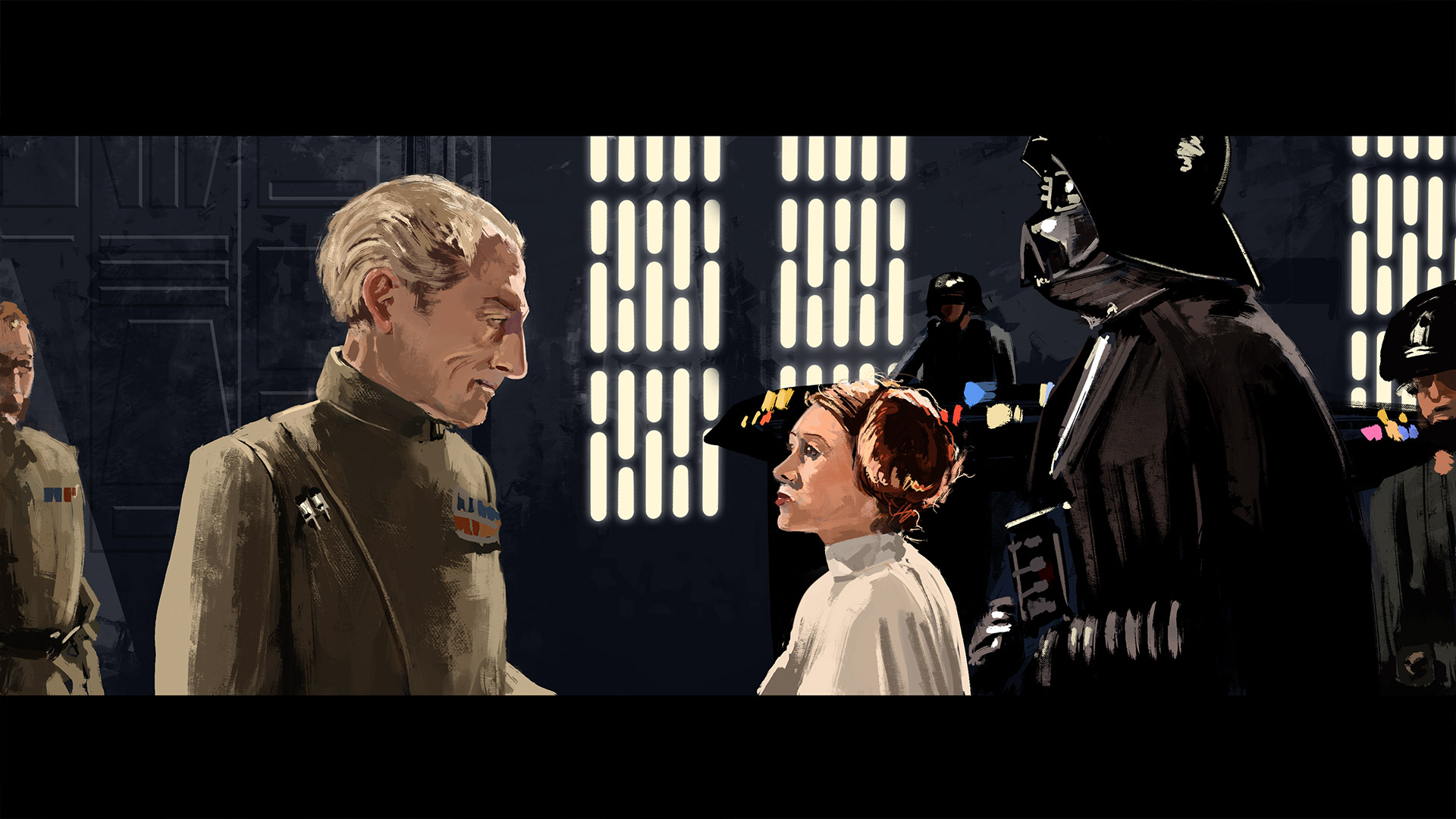 star wars digital painting
