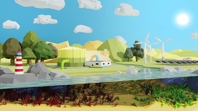 Animation 3D low poly