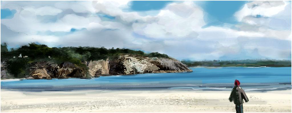 speed painting de la plage de Morgat, finistère