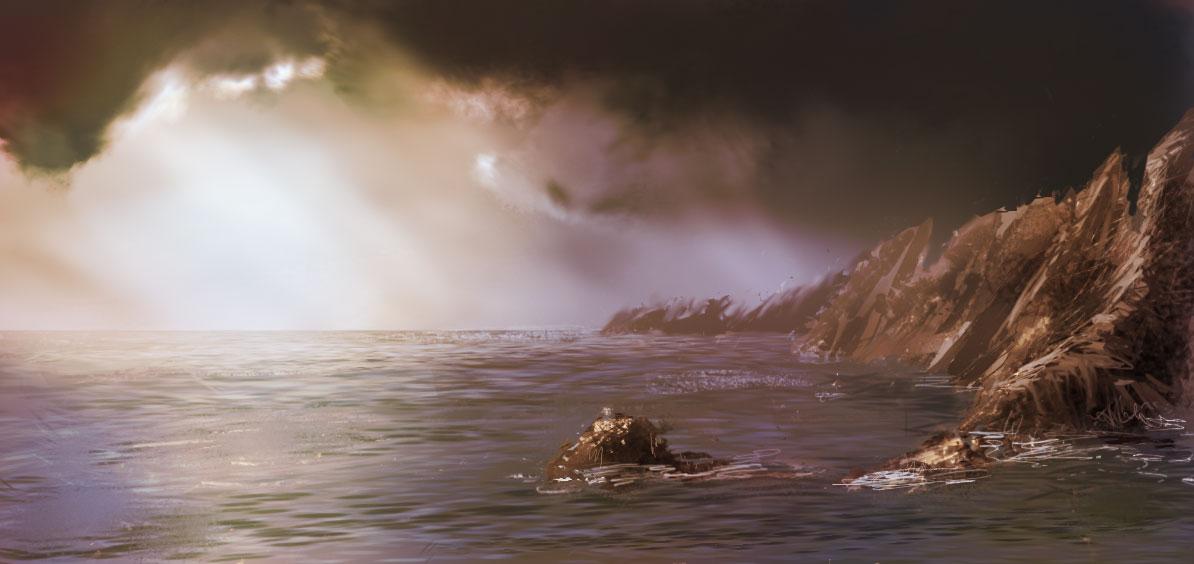 paysage de mer, côte bretonne